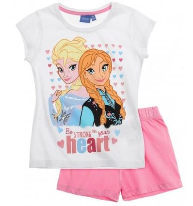 Pijamale Elsa si Anna Frozen alb