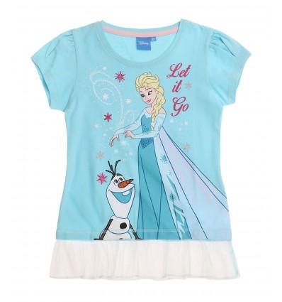 Tricou fete Elsa si Olaf Frozen cu tulle