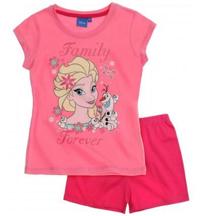 Pijama Elsa Frozen roz/ fucsia