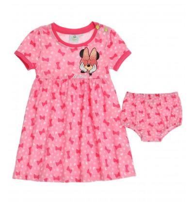 Rochita cu buline Minnie Mouse roz