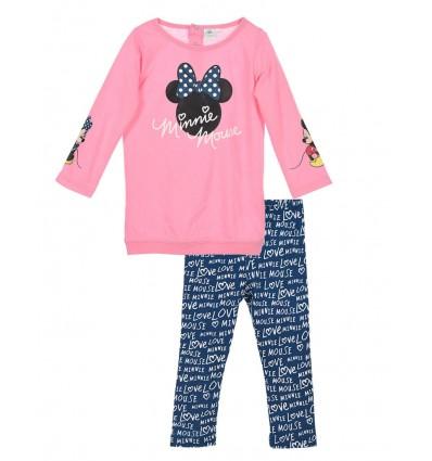 Compleu tricou si leggins Minnie Mouse bleumarin