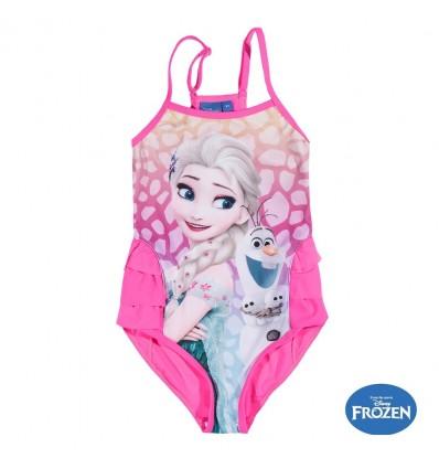 Costum de baie fete Elsa Frozen roz