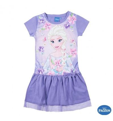 Rochie de vara fete cu tulle Elsa mov