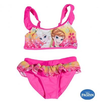 Costum de baie 2 piese Elsa si Anna Frozen roz