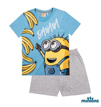 Pijamale copii Minioni bleu