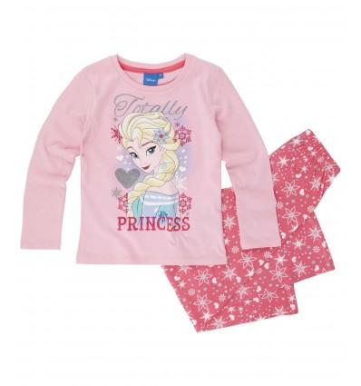 Pijamale maneca lunga Frozen roz