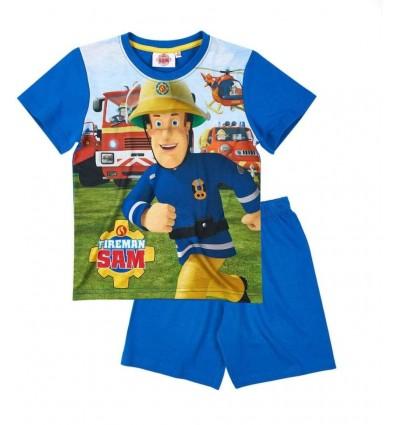 Pijamale maneca scurta Pompierul Sam albastru