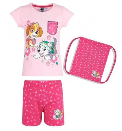 Pijamale fete cu saculet Patrula Catelusilor