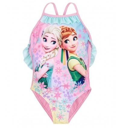 Costum de baie Elsa si Anna roz