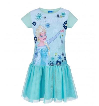 Rochie fete cu tulle Elsa Frozen bleu