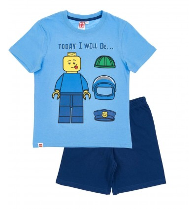 Pijamale maneca scurta Lego albastru