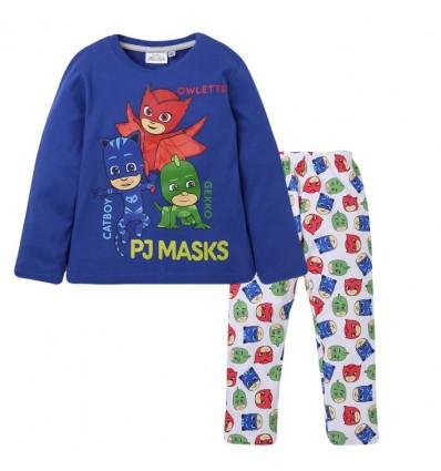 Pijamale baieti PJ Mask albastru/alb