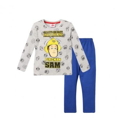 Pijamale Pompierul Sam gri/albastru