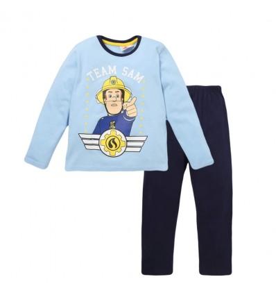 Pijamale Pompierul Sam bleu/bleumarin
