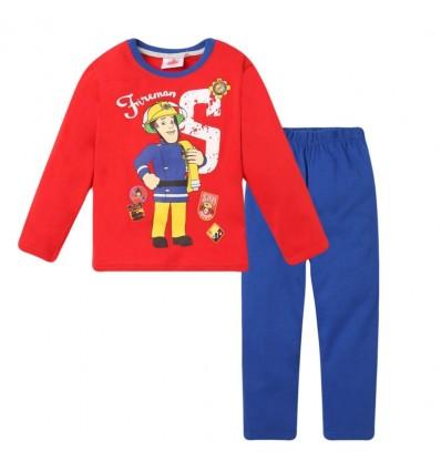 Pijamale Pompierul Sam rosu/ albastru