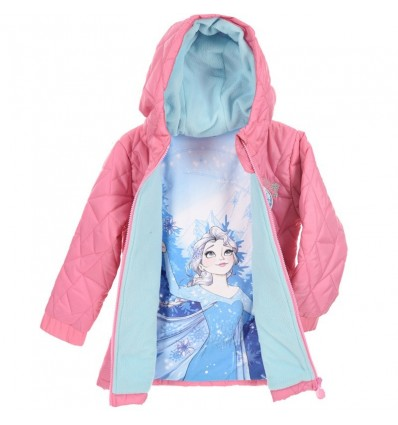 Geaca fete Disney Frozen roz
