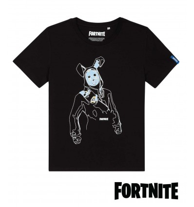 Tricou Fortnite Rabbit Rider negru