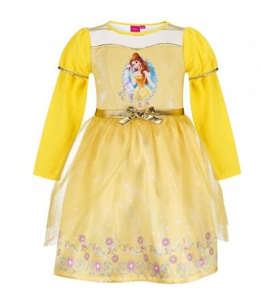 Rochita printesa eleganta cu tulle Disney Princess galben