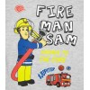 Tricou Pompierul Sam gri/ rosu