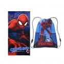 Set cadou baieti Spiderman prosop plaja si sac