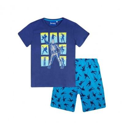 Pijamale maneca scurta Fortnite albastru
