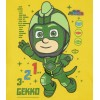 Pijamale PJ masks galben/verde