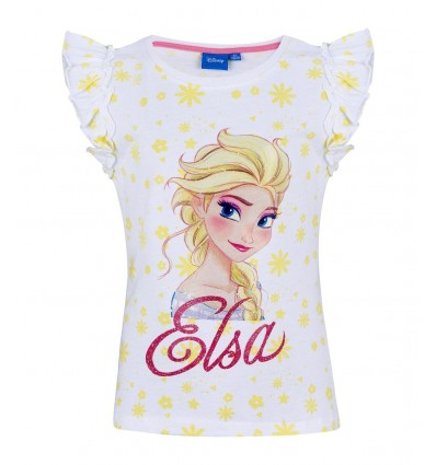 Tricou fete Disney Frozen alb