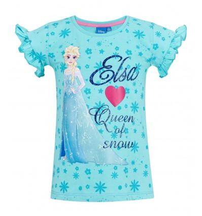 Tricou fete Disney Frozen bleu