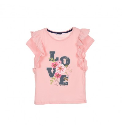 Tricou NAF NAF Romantic girl, roz