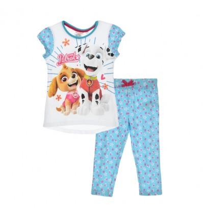 Pijama Patrula Catelusilor cu pantaloni 3/4, bleu