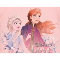 Pijamale maneca scurta Disney Frozen, roz/mov