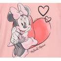 Pijamale Disney Minnie Mouse cu pantaloni 3/4, roz/gri