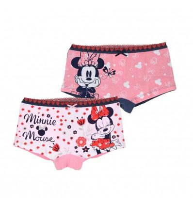 Set 2 perechi chilotei Disney Minnie Mouse, roz/ alb