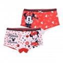 Set 2 perechi chilotei Disney Minnie Mouse, rosu/ alb
